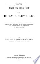 Nave s Index digest of the Holy Scriptures