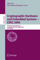 Pdf Cryptographic Hardware and Embedded Systems - CHES 2004 Telecharger