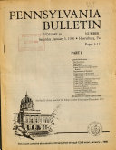 Pennsylvania Bulletin