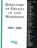 Directory of Grants in the Humanities 1999 2000