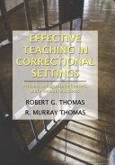 Effective Teaching in Correctional Settings Pdf/ePub eBook