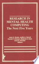 Research in Mental Health Computing
