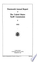 Annual Report Of The United States Tariff Commission For The Fiscal Year Ended