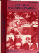 Journal of Psychology in Africa Book