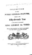 Pdf A Collection of the Public General Statutes, Passed in the Fifty-seventh Year of the Reign of His Majesty King George the Third