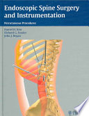 Endoscopic Spine Surgery And Instrumentation Book PDF