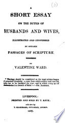 A Short Essay on the Duties of Husbands and Wives