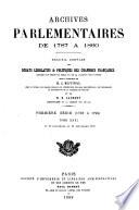 Archives parlementaires de 1787 á 1860