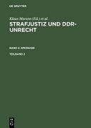 Strafjustiz und DDR-Unrecht: Spionage