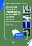 Small Animal Orthopedics  Rheumatology and Musculoskeletal Disorders