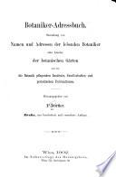 Botaniker-Adressbuch