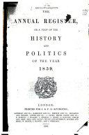Pdf The Annual Register, Or, A View of the History and Politics of the Year ...