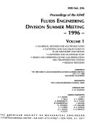 Proceedings Of The Asme Fluids Engineering Division Summer Meeting Book PDF