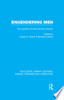Engendering Men  : The Question of Male Feminist Criticism