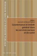 Gouvernance et intérêt général dans les services sociaux et de santé