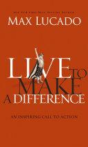 Live to Make A Difference Pdf/ePub eBook