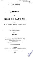 A Treatise On Crimes And Misdemeanors Book