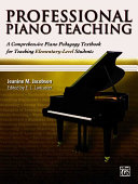 Cover of Professional Piano Teaching