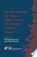 Formal Methods for Open Object based Distributed Systems Book