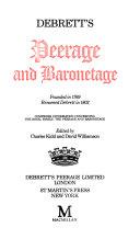 Debrett s Peerage and Baronetage 1990