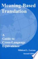 Meaning-based Translation