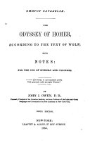 The Odyssey  According to the Text of Wolf