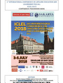 4 th International Conference on Lifelong Education and Leadership for ALL ICLEL 2018