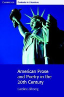 Books - American Prose And Poetry In The 20th Century | ISBN 9780521663908