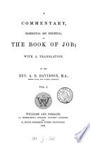 A Commentary Grammatical And Exegetical On The Book Of Job