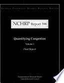 Quantifying Congestion Final Report Book PDF