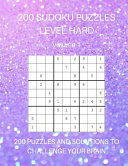 200 Sudoku Puzzles Level Hard Volume 1
