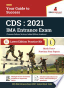 """Combined Defence Services: CDS IMA Entrance Exam 2021 
