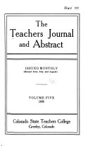 The Teachers Journal and Abstract