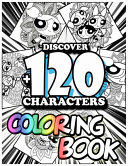 Discover +120 Characters Coloring Book