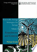 Renewable Energy Strategies for Europe  Foundations and context
