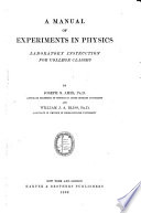 A Manual of Experiments in Physics