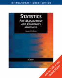 Statistics For Management And Economics Abbreviated   7e  ise