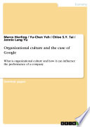 Organizational culture and the case of Google