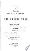 Louisiana Reports Book