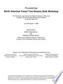 Proceedings  North American Forest Tree Nursey Soils Workshop