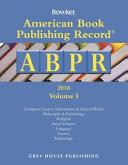 American Book Publishing Record Annual - 2 Vol Set, 2018
