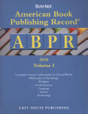 American Book Publishing Record Annual 2 Vol Set 2018