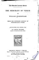 The Merchant of Venice Book