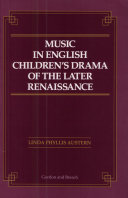 Music in English Children's Drama of the Later Renaissance