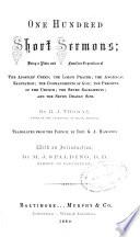 One Hundred Short Sermons Book PDF