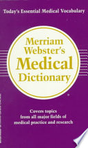 Merriam Webster s Medical Dictionary Book