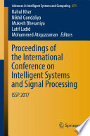 Proceedings Of The International Conference On Intelligent Systems And Signal Processing Book PDF