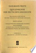 Dahlmann-Waitz Quellenkunde der deutschen Geschichte
