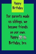 Our Parents Made Us Siblings We Became Friends On Our Own Book PDF