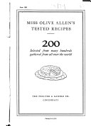Miss Olive Allen s Tested Recipes